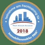 Teilnahme Fachtraining für Immobilienmakler PMA